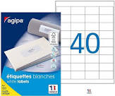 ETIQUETTES ADHESIVES A4 48.5*2